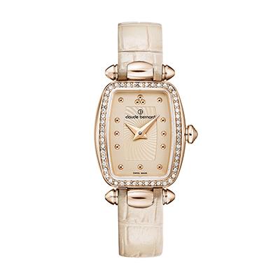 Reloj para Dama, tablero rectangular, rosa, puntos, analogo, pulso cuero rosa