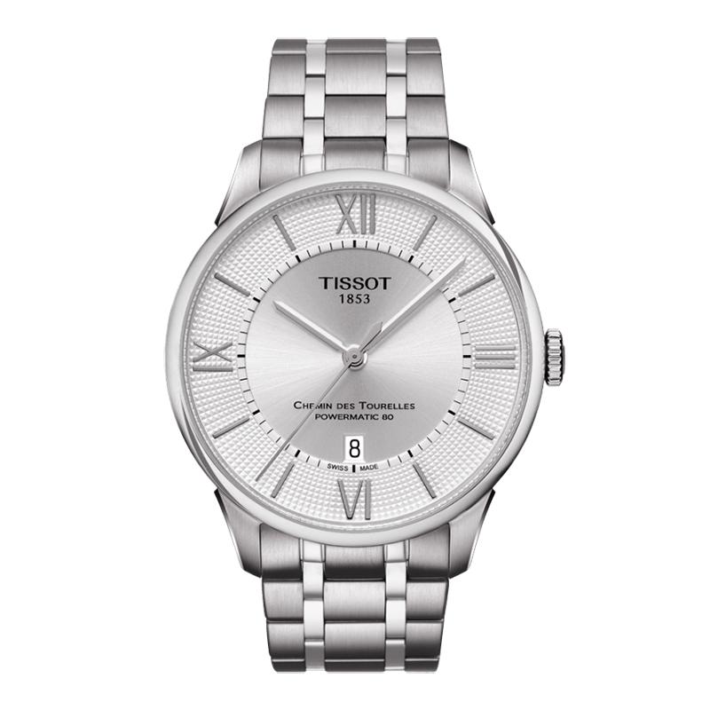 Reloj para Hombre, silver, index + romano, pulso metalico metalico