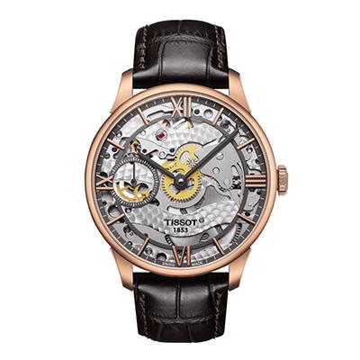 Reloj para Hombre, tablero redondo, silver, index + romano, analogo, pulso cuero cafe, calendario