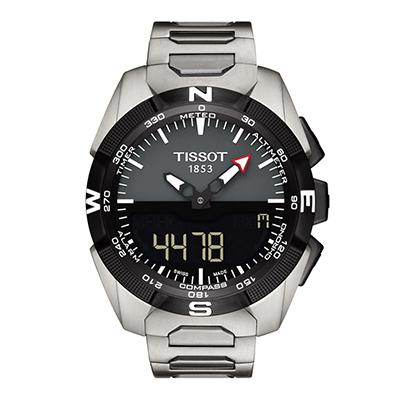 Reloj para Hombre, negro, index, pulso metalico metalico