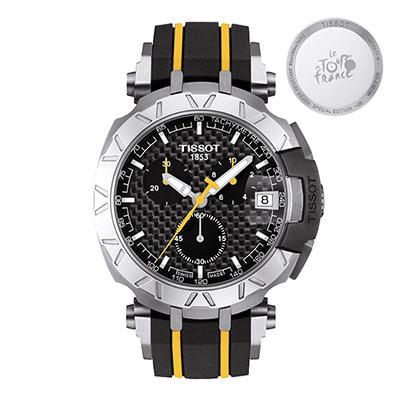 Reloj para Hombre, tablero redondo, negro, index, analogo, pulso rubber negro, calendario, cronografo