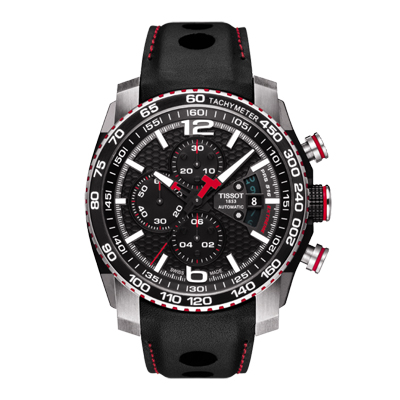 Reloj para Hombre, tablero redondo, negro, index + arabigo, analogo, pulso cuero negro, calendario, cronografo