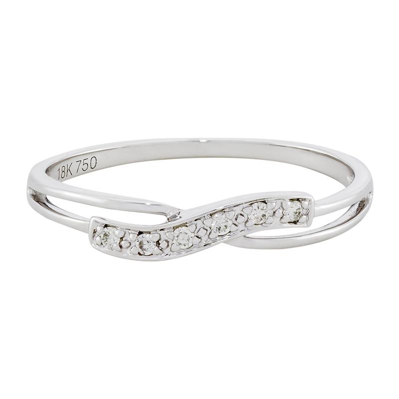 0121702014 - Anillo en oro blanco de 18 kilates, con diamantes de 0.04 ct